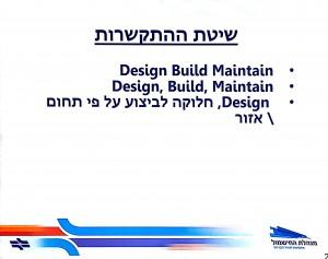 שיטת התקשרות בפרויקט החישמול_רכבת ישראל